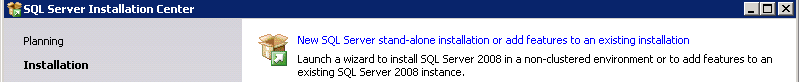 01 New sql stand alone installation