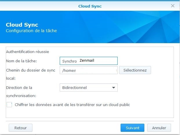 Cloud sync Synchro homes